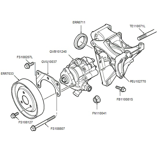 Td5 Power Steering Pump