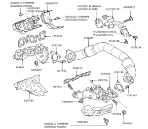 Exhaust Manifold & Cross Over Pipe