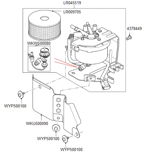 Land Rover Discovery 4 Fuel Filter Location