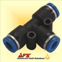 8mm Equal Tee Push-in Fitting Nylon Pipe Tube Connector