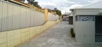 Duplex driveway limestone wall - Retaining Perth