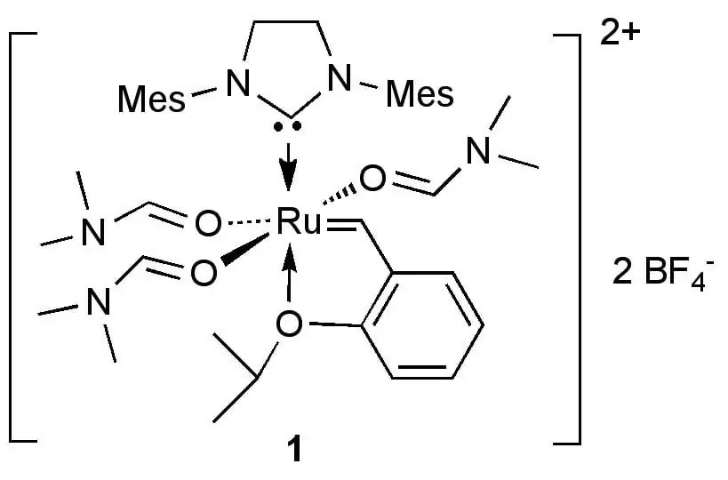 ruthenium-alkylidene complex for ROMP and for
