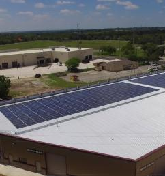 timco large commercial solar project installed by advanced solar electric llc san antonio food bank solar panel install [ 1920 x 1080 Pixel ]