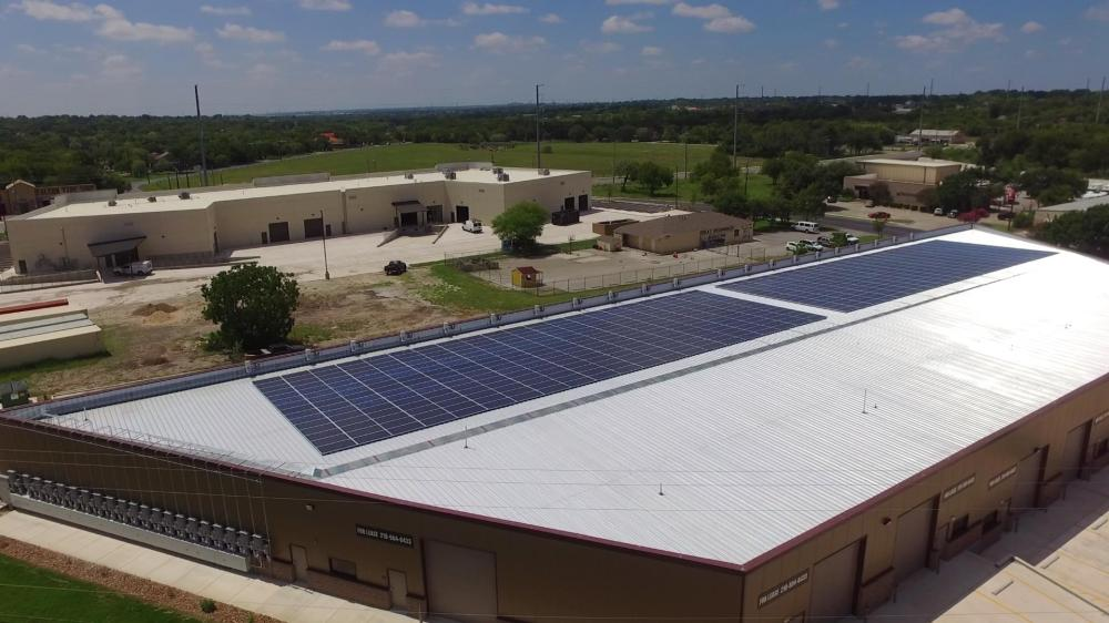 medium resolution of timco large commercial solar project installed by advanced solar electric llc san antonio food bank solar panel install