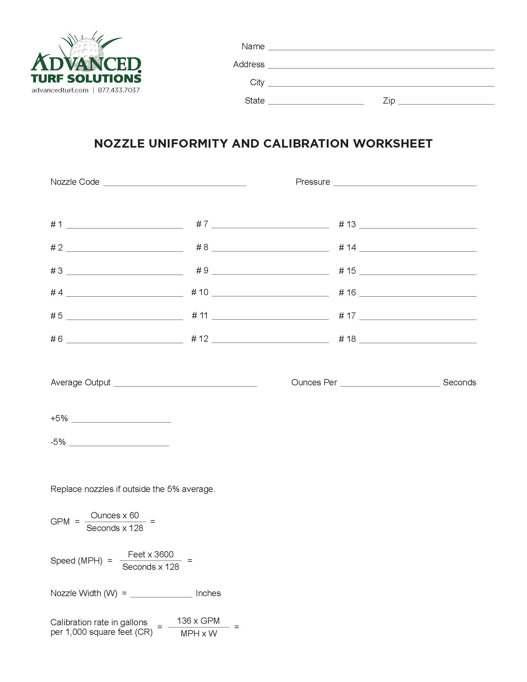Pesticide Application Record Calibration Worksheet Free