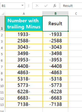 Text to Columns (Convert Numbers with Trailing Minus Sign to negative numbers)-6