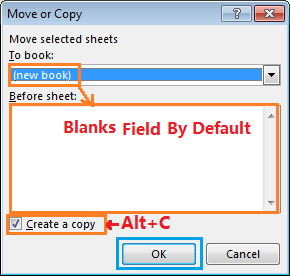 Move or Copy Tab by Excel Shortcut-4
