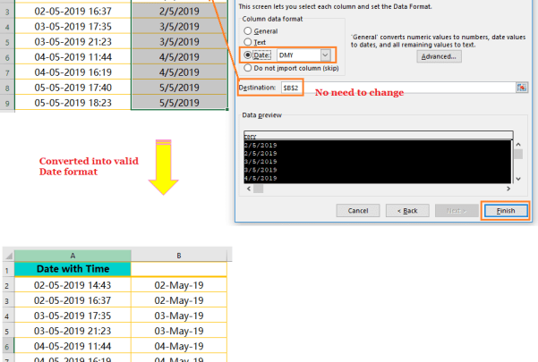 Using the CONCATENATE() Function-Extract Date from Timestamp_6