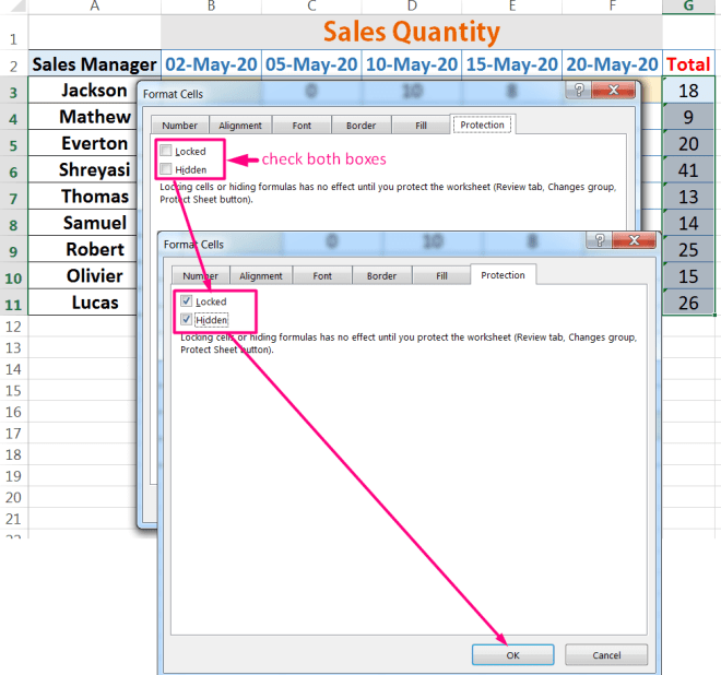How to Protect Formula in Excel_4
