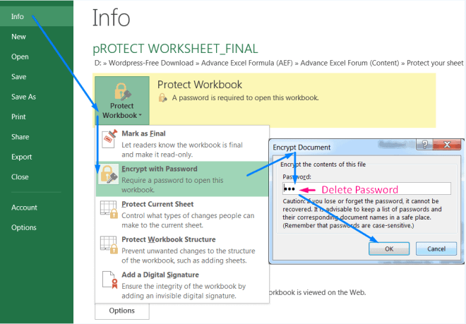 How to Unprotect Workbook_2