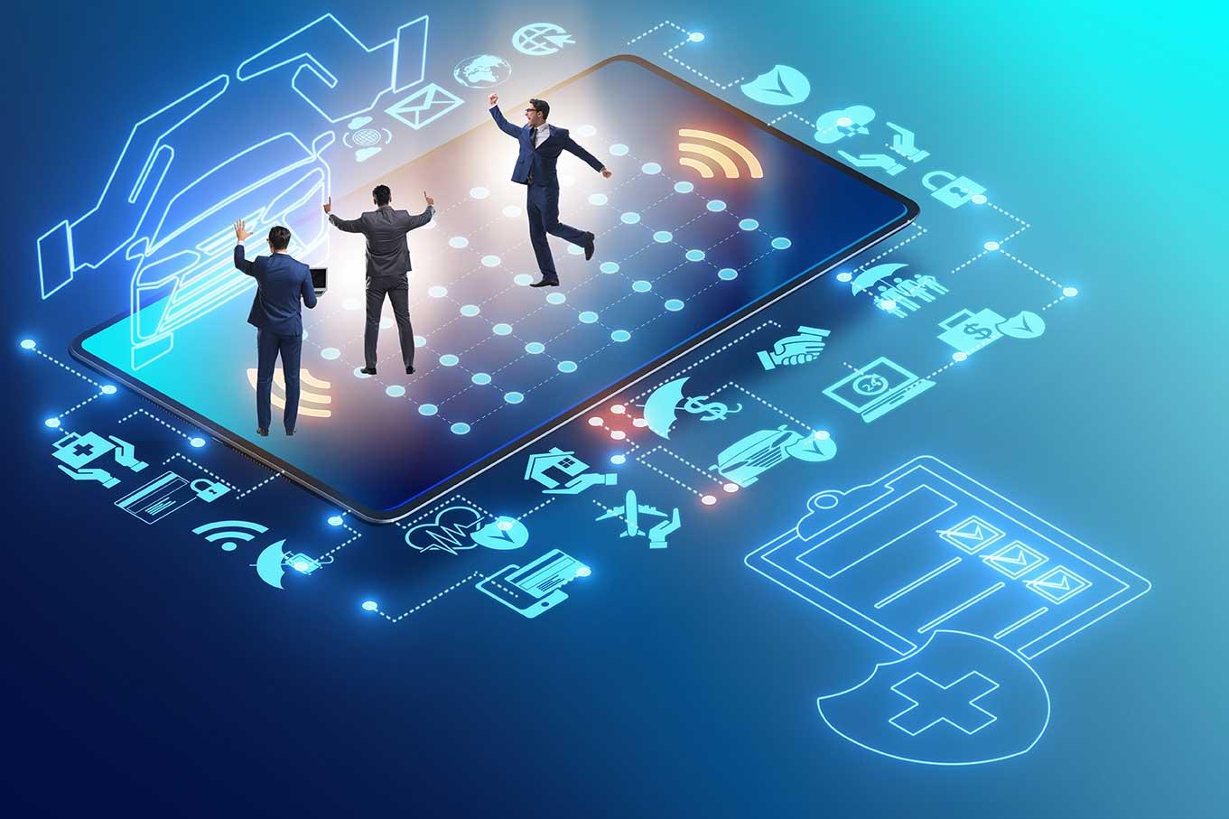 digital insurance concept
