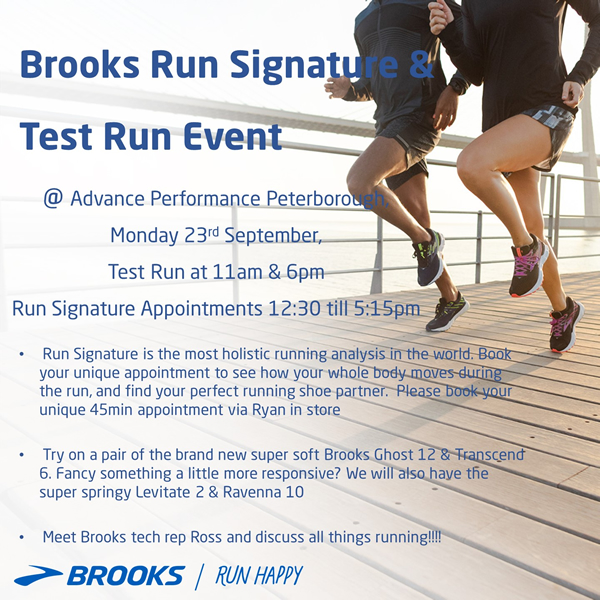 Brooks Run Signature & Test Run Event