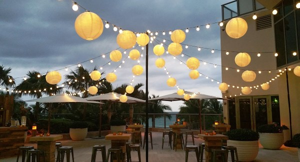 Paper Lantern String Lights Outdoor