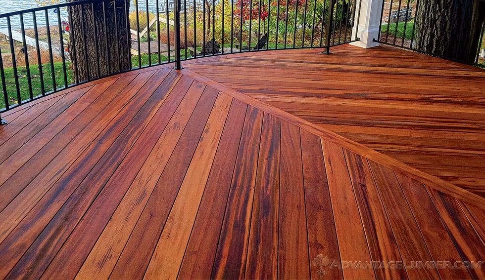 Tigerwood Decking  Tigerwood Lumber  Tigerwood deck
