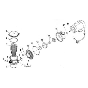 Parts of ES Series Pond Pumps