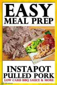 Here is my Easy Meal Prep Recipe for InstaPot Pulled Pork. I've also included links to my favorite Keto Sauces to top this keto pulled pork.