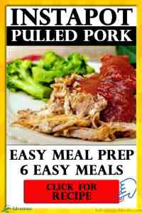 Keto Diet easy meal prep idea for Instapot Pulled Pork. Plus you get 6 easy keto meal ideas that used the pulled pork.