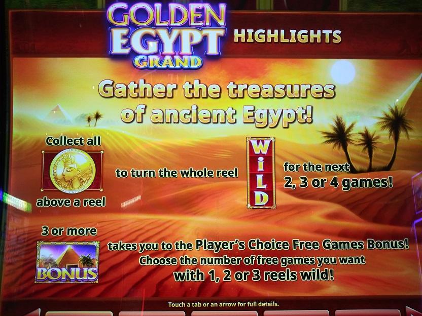 Golden egypt grand slot machine
