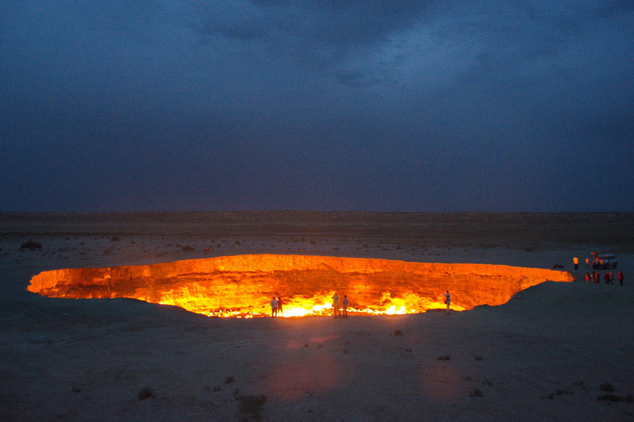 Image result for Darvaza gas crater