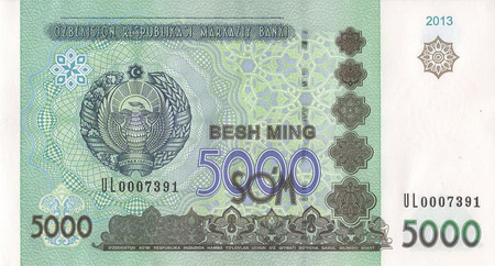 Uzbekistan Currency Soum Sum UZS