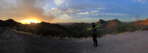 The Apache Trail, Arizona, USA Panoramic view