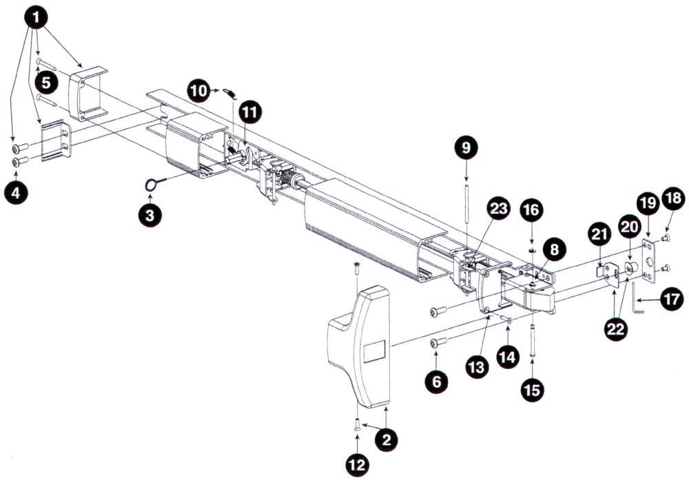 Kawneer Door Parts. Kawneer Commercial Door Pivot Bottom