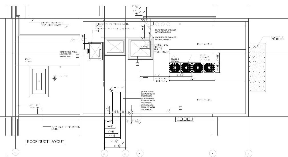 MEP HVAC 2D drafting services, MEP CAD Drawings