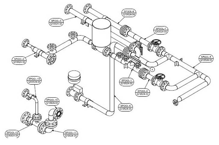 General Assembly Drawings, Mechanical Parts Drawing
