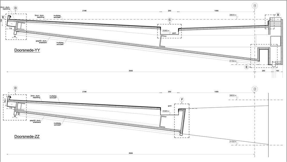 Facade drafting services for Atrium, Canopies, Glass Stairs