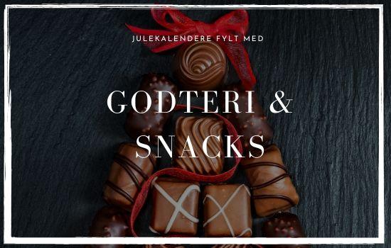 Julekalendere fylt med godteri, snacks og spiselig innhold