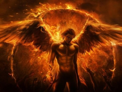 art-imaliea-man-angel-fire-wings-arms-fantasy