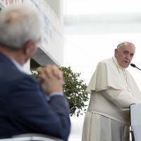 Pope Francis visits Pentecostals, reunites with longtime friend