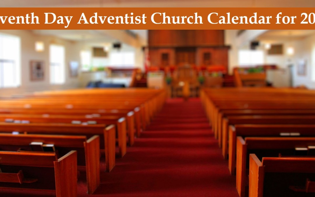 Seventh Day Adventist Church Calendar for 2019 (Details)