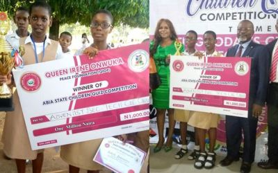 Adventist secondary technical college owerrinta wins Abia state children quiz competition (Photos)