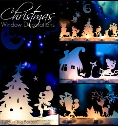 Christmas Window Silhouettes   Adventure in a Box [ 1000 x 1000 Pixel ]