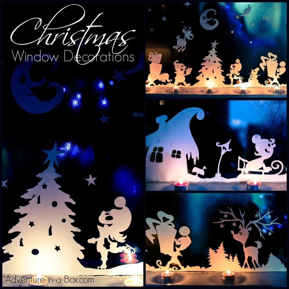 medium resolution of Christmas Window Silhouettes   Adventure in a Box