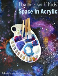 How to Paint Space in Acrylic with Kids | Adventure in a Box