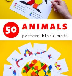 Animal Pattern Block Mats   Adventure in a Box [ 1500 x 750 Pixel ]