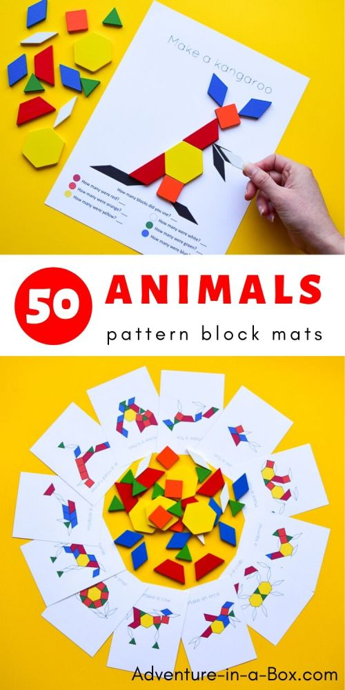 small resolution of Animal Pattern Block Mats   Adventure in a Box