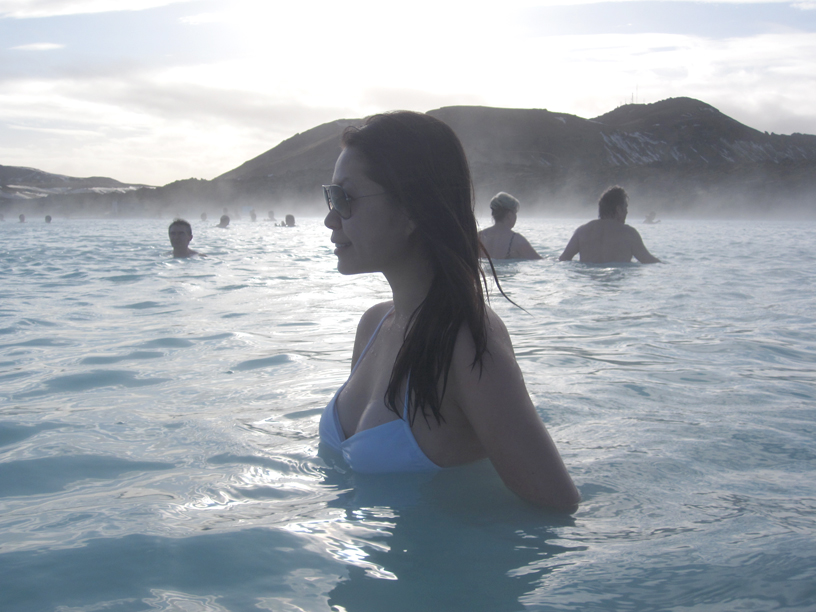 In the water at Blue Lagoon