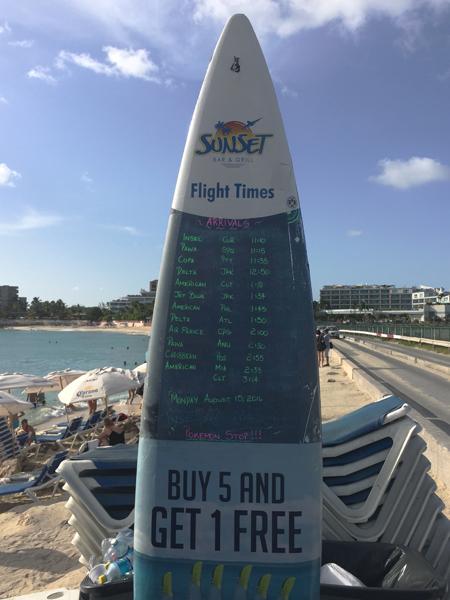 St. Maarten Maho Beach Flight Times