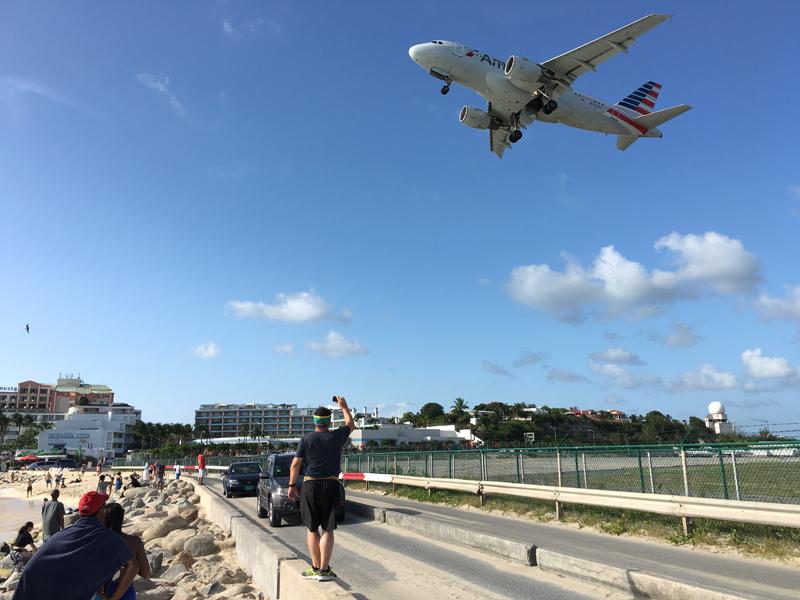 St. Maarten Maho Beach Plane Takeoff