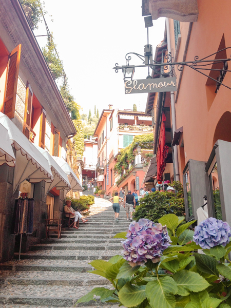 Trip to Lake Como Bellagio Steps