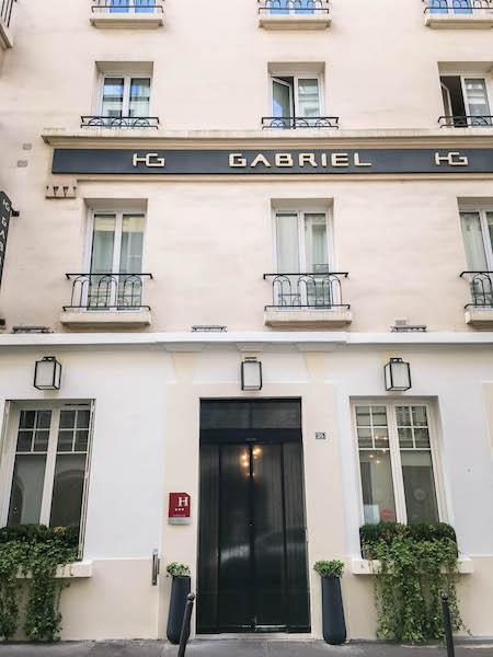 Hôtel Gabriel Paris Entrance