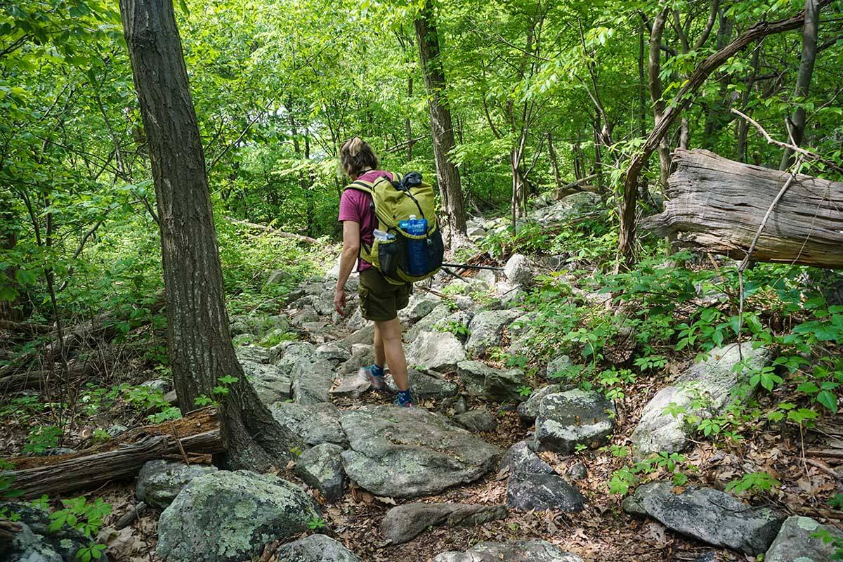 The rocky trails of PA, while not a huge problem, will definitely slow your walking pace to a crawl in sections.