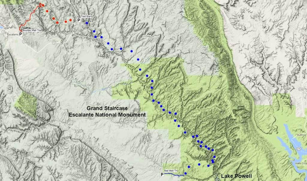 Escalante Overland Route