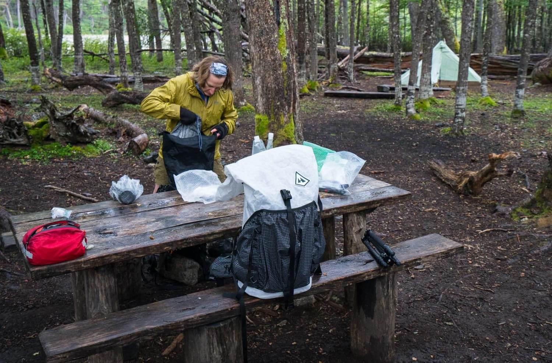 Typical campsite on the Cerro Castillo Trek