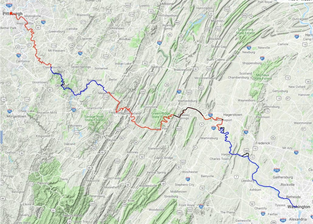 bikepacking GAP Trail and C&O Canal Trail