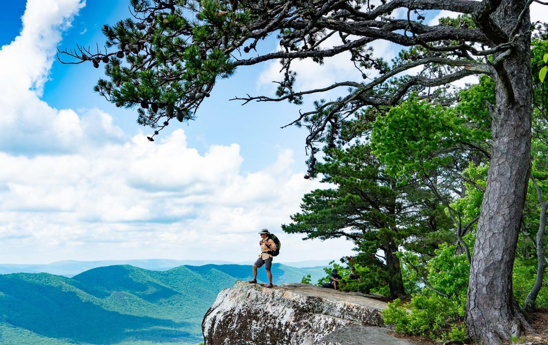 Gorgeous view hiking Appalachian Trail