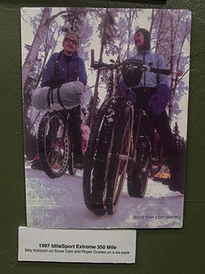 Ces premiers balbutiements du Fat bike étaient aperçus à la course Iditarod d'Alaska (très très difficile).